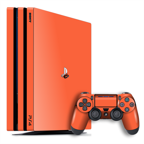 Playstation 4 PRO PS4 PRO Gloss Glossy CORAL Skin Wrap Decal by EasySkinz