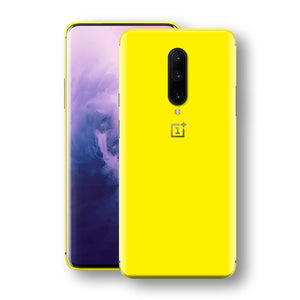 OnePlus 7 PRO Lemon Yellow Glossy Gloss Finish Skin, Decal, Wrap, Protector, Cover by EasySkinz | EasySkinz.com