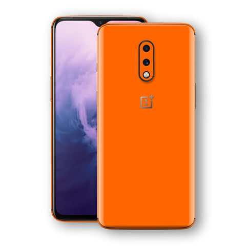 OnePlus 7 Orange Matt Skin, Decal, Wrap, Protector, Cover by EasySkinz | EasySkinz.com
