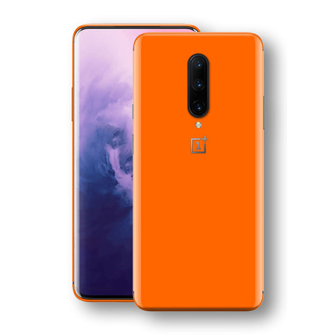 OnePlus 7 PRO Orange Glossy Gloss Finish Skin, Decal, Wrap, Protector, Cover by EasySkinz | EasySkinz.com