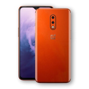OnePlus 7 Fiery Orange Tuning Metallic Skin, Decal, Wrap, Protector, Cover by EasySkinz | EasySkinz.com