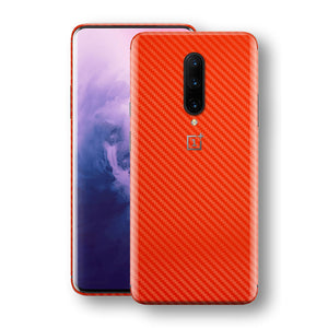 OnePlus 7 PRO 3D Textured Red Carbon Fibre Fiber Skin, Decal, Wrap, Protector, Cover by EasySkinz | EasySkinz.com