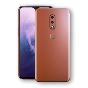OnePlus 7 Rose Gold Matt Metallic Skin, Decal, Wrap, Protector, Cover by EasySkinz | EasySkinz.com