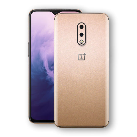 OnePlus 7 Luxuria Rose Gold Metallic Skin Wrap Decal Protector | EasySkinz