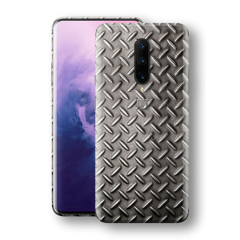 OnePlus 7 PRO Print Custom Signature Diamond Steel Floor Plate Skin Wrap Decal by EasySkinz