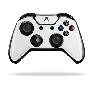 Xbox One Controller White 3D Textured CARBON Fibre Fiber Skin Wrap Sticker Decal Protector Cover by EasySkinz