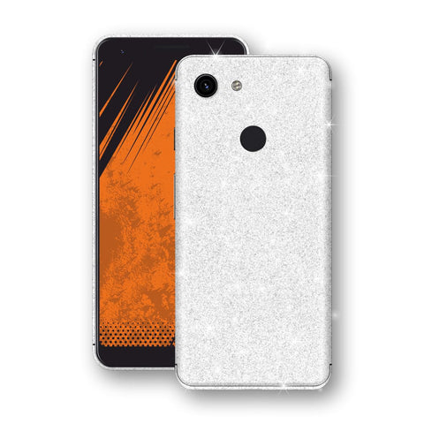 Google Pixel 3a Diamond White Shimmering, Sparkling, Glitter Skin, Decal, Wrap, Protector, Cover by EasySkinz | EasySkinz.com