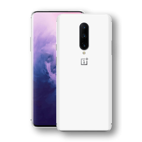 OnePlus 7 PRO White Glossy Gloss Finish Skin, Decal, Wrap, Protector, Cover by EasySkinz | EasySkinz.com