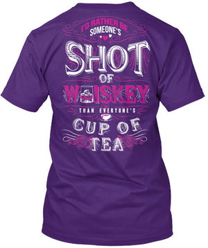 Someone's Shot Of Whiskey Than Everyone's Cup of Tea T-Shirt Purple / Small, T-Shirts - Cute n' Country, Cute n' Country  - 3