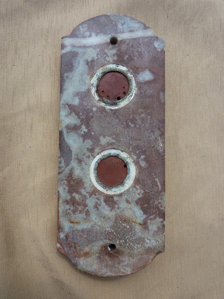 Art Deco French Marble Amp Brass Door Bell Push Buttons Dragonquarry Antiques Amp Restoration