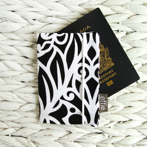 Passport Cover - Black & White