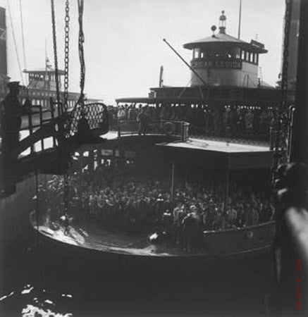 A Nickel to Staten Island on Ferry by Andreas Feininger