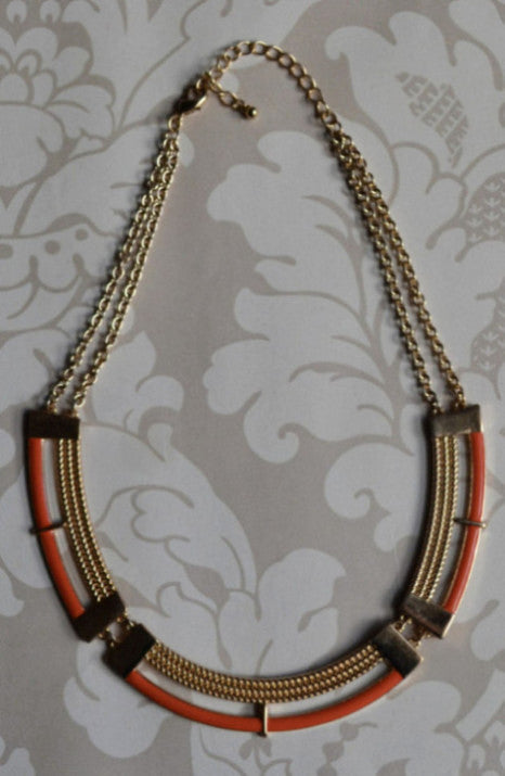 Umbria Collar Necklace Orange