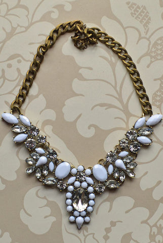 Anastasia Necklace White
