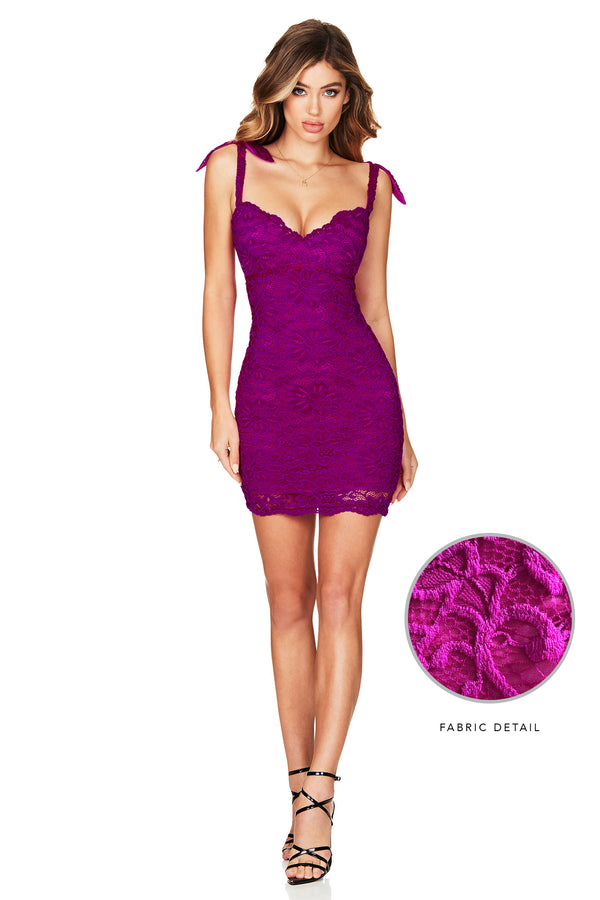 Romance Mini Dress in Electric Purple by Nookie the Label