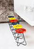 Button stool - Yellow