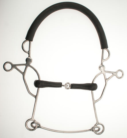 Abbey England Combination Rubber Jointed Hackamore - The Tack Shop of Lexington