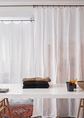 Rideau en lin lavé / Washed linen curtain