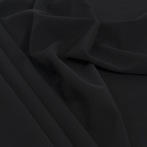 Black Polyester Stretch Fabric 1831 - Fabrics4Fashion