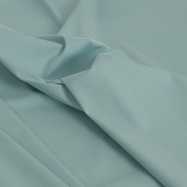 Aqua Blue Super Stretch Cotton 1842 - Fabrics4Fashion