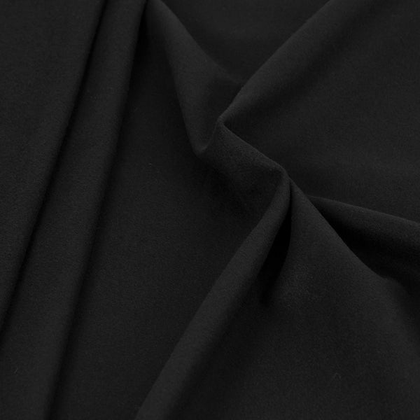 Black Coating Wool Fabric 1917 - Fabrics4Fashion