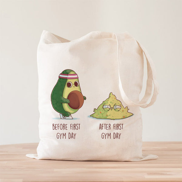 Before After First Gym Day Premium - Tote Bag - Naolito