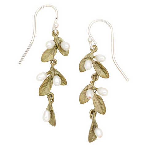 Silver Seasons by Michael Michaud - Petite Leaf Earrings