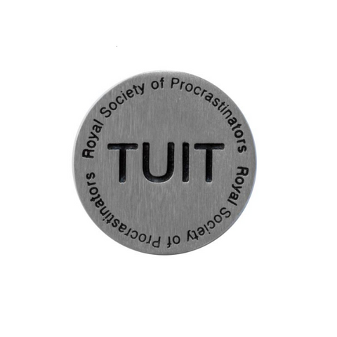 Vilmain Pewter - Round Tuit Paperweight
