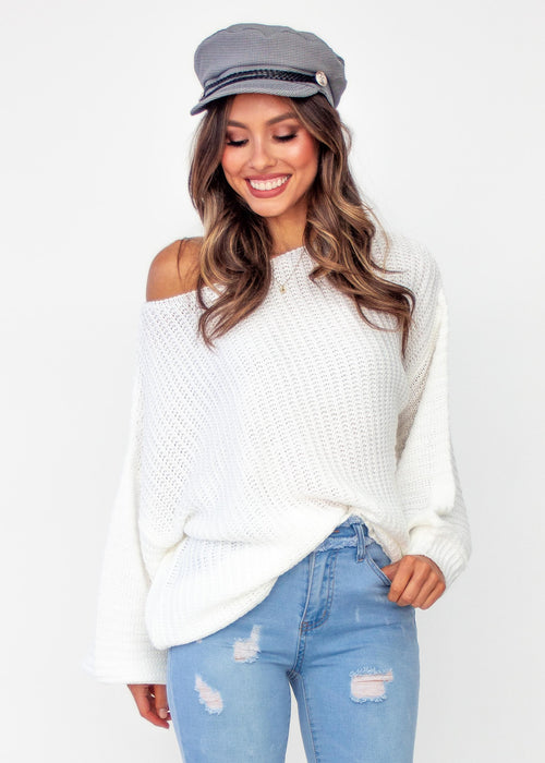 Women's Hold Me Closer Sweater - Cream