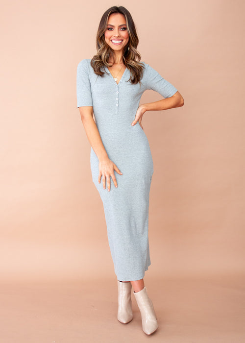 Cameron Knit Maxi Dress - Grey