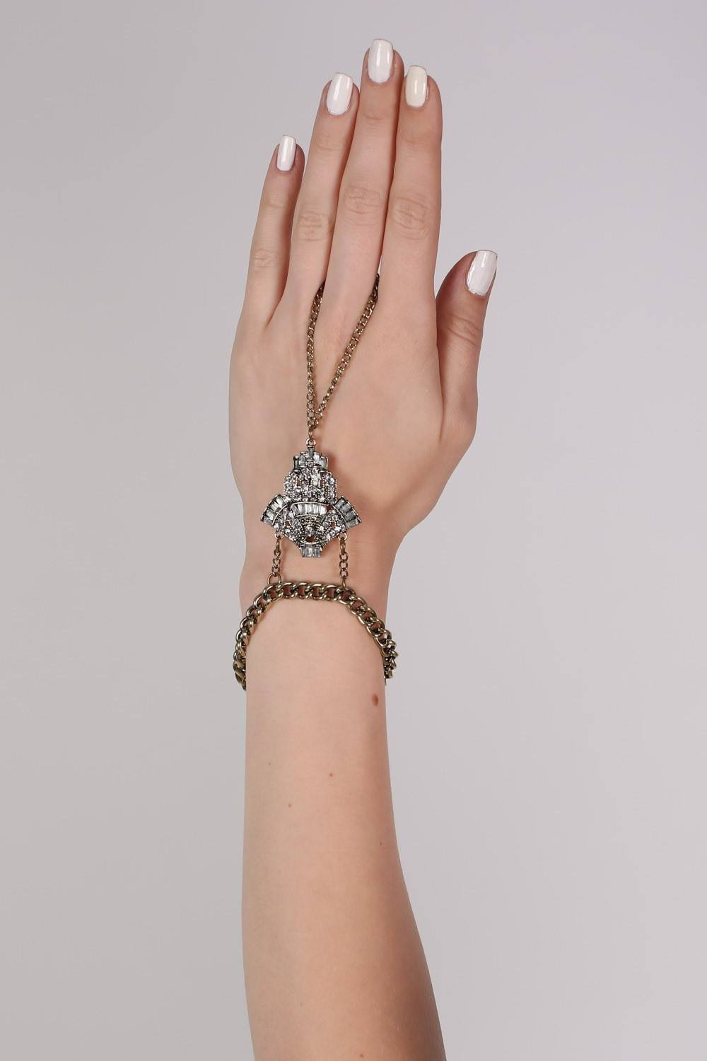Jewel Bracelet Hand Harness in Gold 0
