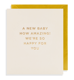 A New Baby How Amazing! - Lagom Design