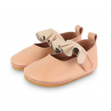 Giba Flats - Cream Leather