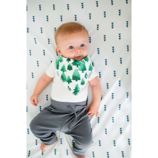 Bandana Bib - Green Tree