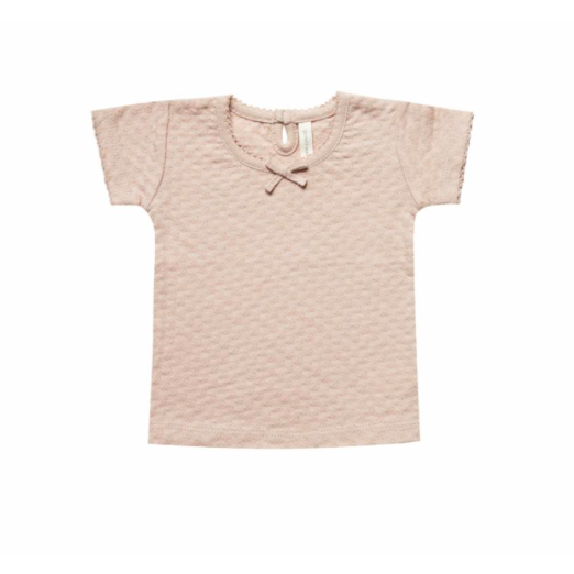 Organic Cotton Tee - Rose