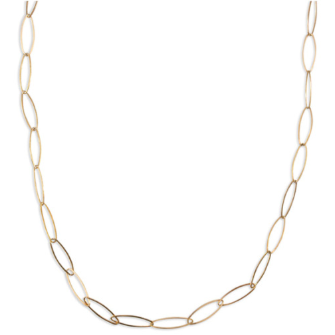 "Link Necklace - 18"" Gold"