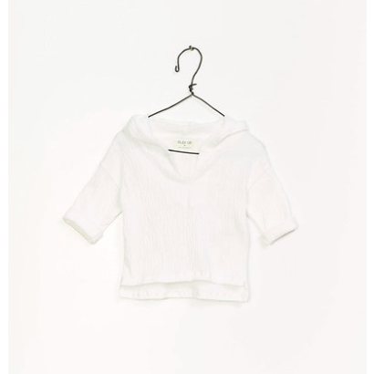 Hooded Jersey Shirt - White