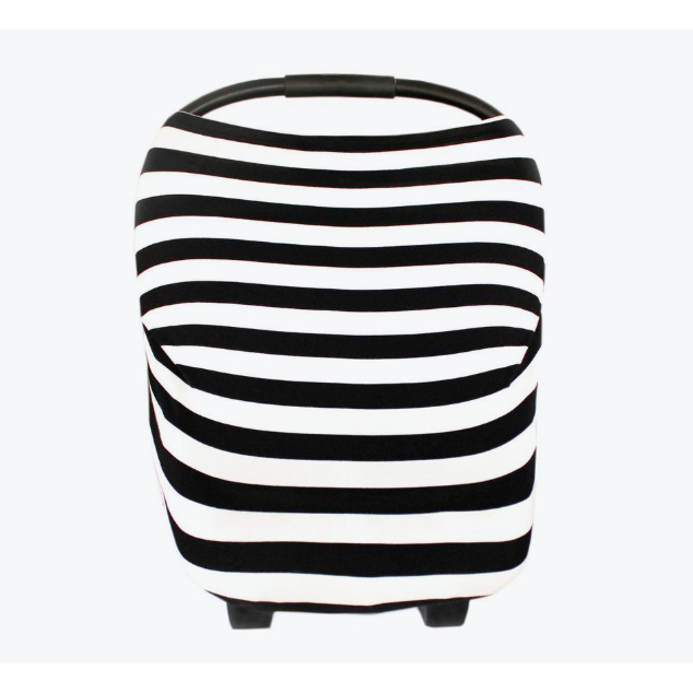 Multi-Use Cover - Black & White Stripe