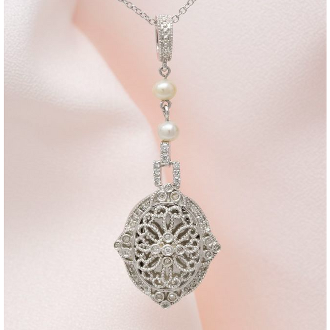 Georgie Locket Necklace - Sterling Silver