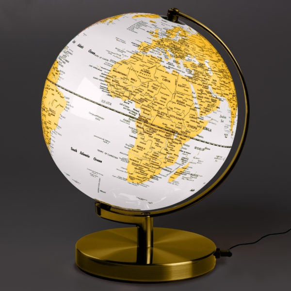"Globe Light - 10"" Arctic White"