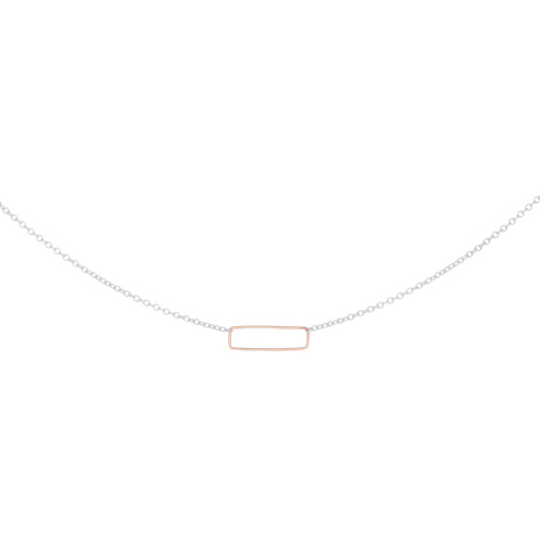 Tiny Lina Necklace - Gold Rectangle