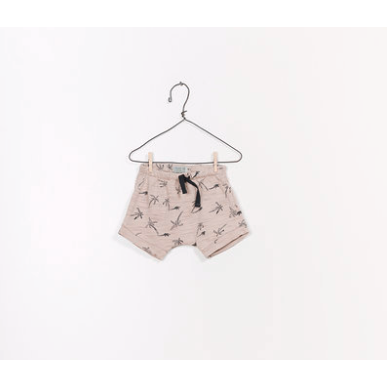 Printed Jersey Shorts - Taupe Tropical