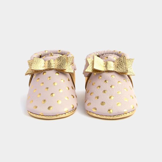 Moccasin - Heirloom Blush with Bow