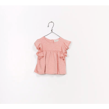 Ruffle Mixed Tunic - Pink