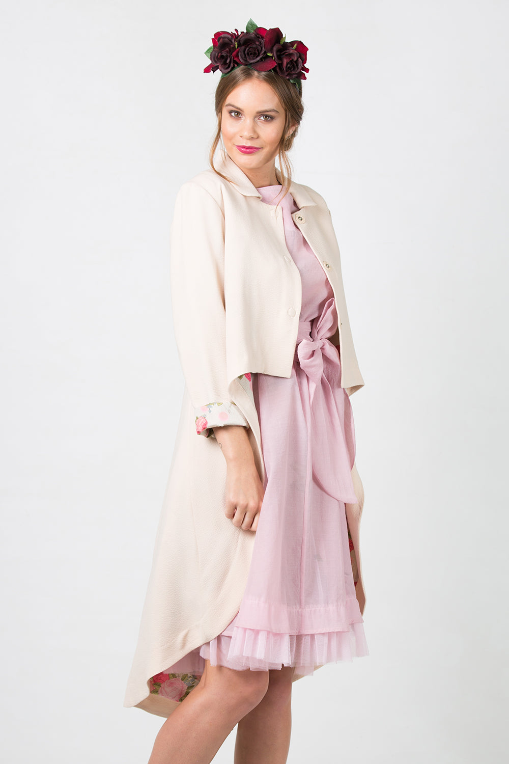 Eliza 4 Jacket | Designer Wear Summer Coats | Annah Stretton | Pink