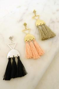 Tip If My Tassel Earring - Black