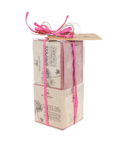 Rose Geranium Pomegranate Face and Body Gift Pack