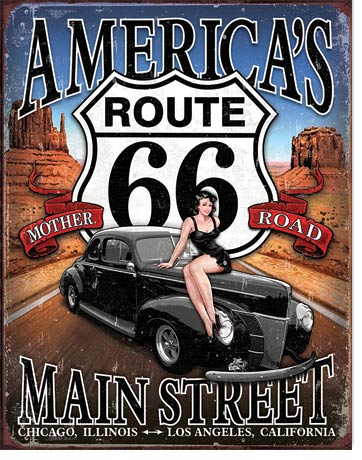 America's Main Street Tin Sign | Man Cave Authority | 1957