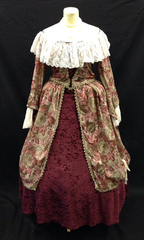 18TH CENTURY OFF THE SHOULDER LADIES DRESS