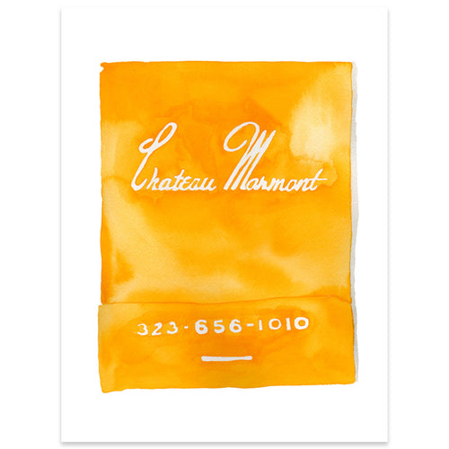 Chateau Marmont Matchbook Watercolor Print